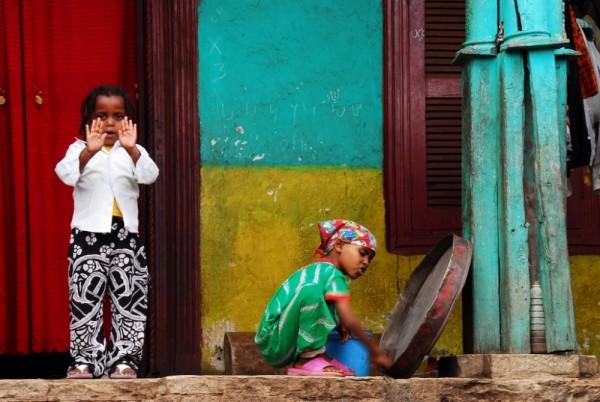 Harari girls, Harar, Ethiopia