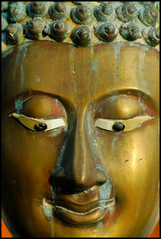 Portrait of Buddha, Seema Malakaya temple, Colombo