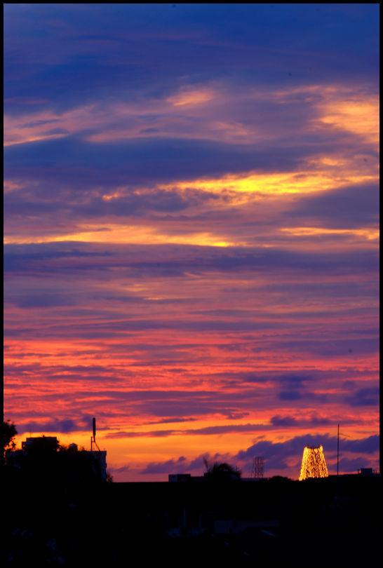 Sunset over Colombo, Sri Lanka
