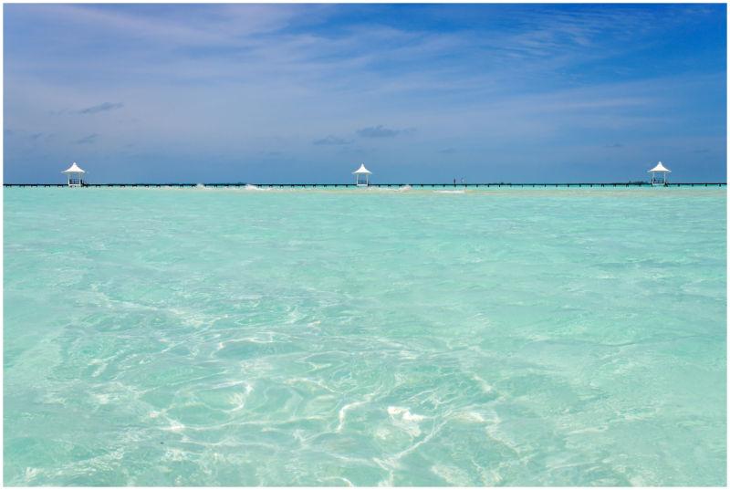 Peer of Chayaa Resort, Hakuraa Island, Maldives