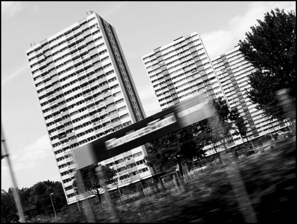 London's suburbs taken from the train, England
