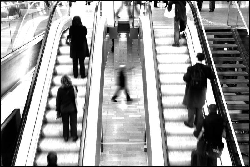"Escalator in ""Gare de l'Est"", Paris, France"