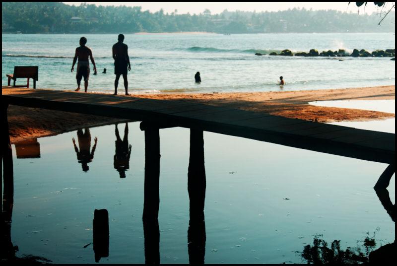 Unawatuna bay, Sri Lanka