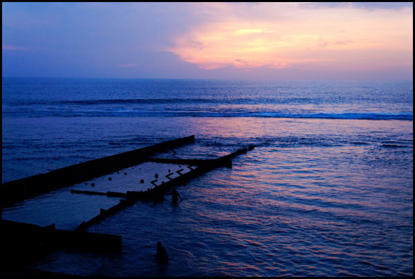 Dusk over the sea, Galle, Sri Lanka