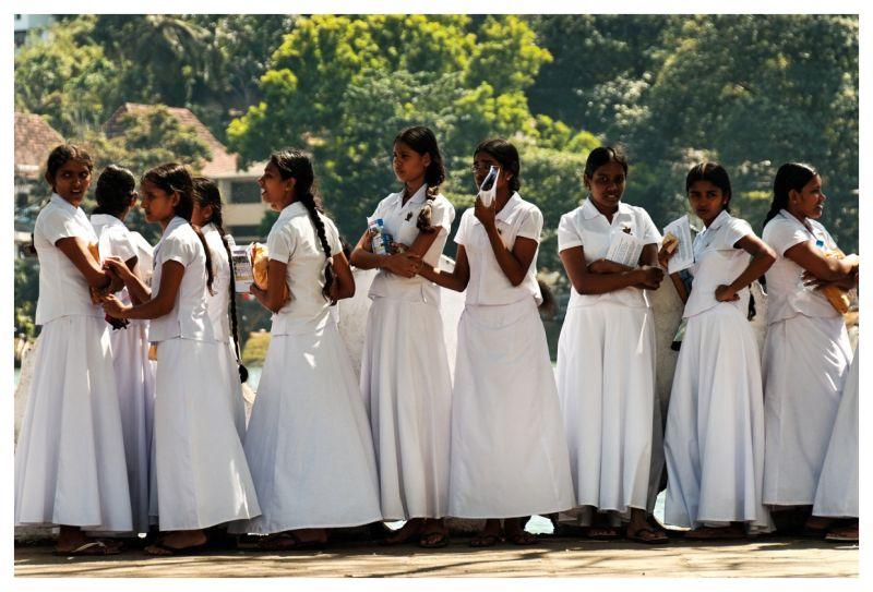 Schoolgirls in Kandy, Sri Lanka