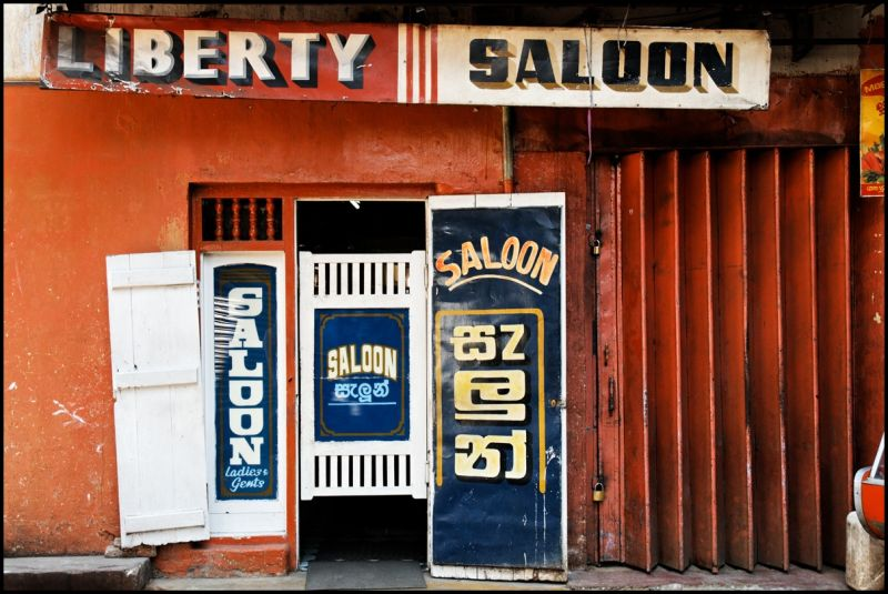 Hair saloon in Kandy, Sri Lanka