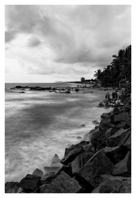 The shore up to Colombo's Fort, Sri Lanka