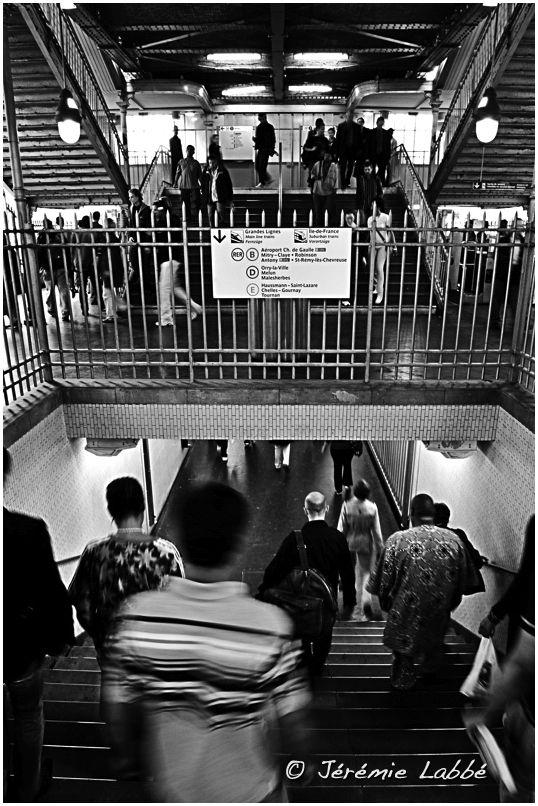 La Chapelle tube station, Paris, France.