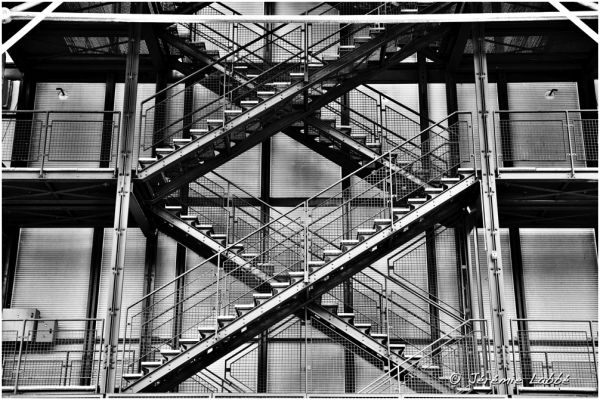 Detail of Georges Pompidou museum, Paris, France