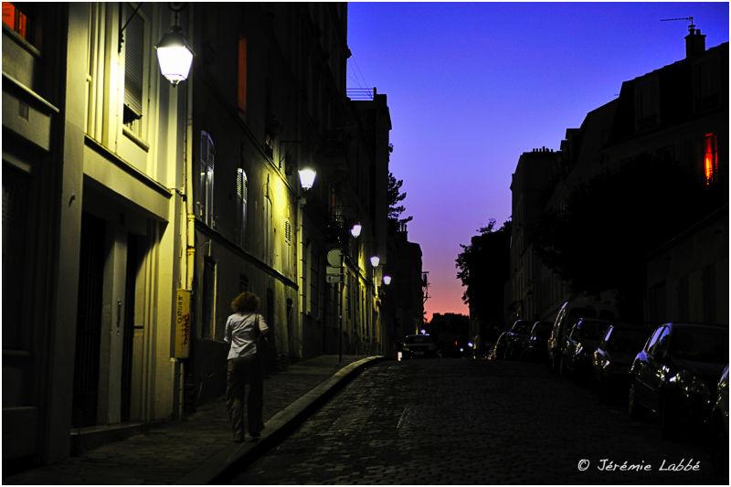 Street on Montmartre's slopes, Paris, France
