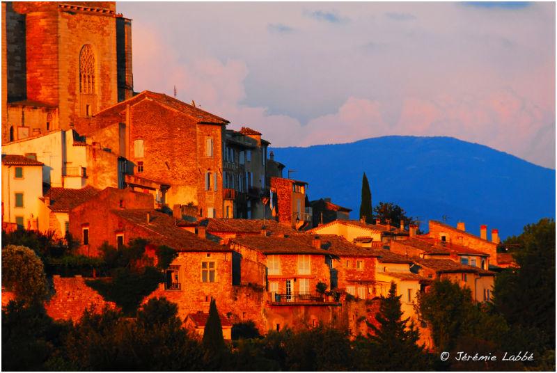 View of Grignan, Drôme-Provençale, France