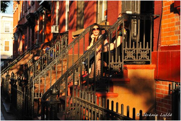 Sunset over Bedford Avenue, Williamsburg, Brooklyn