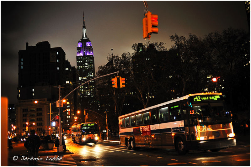 Fifth avenue and Empire State Building, New York