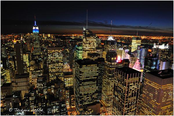 New York's skyline at night, Rockefeller Centre