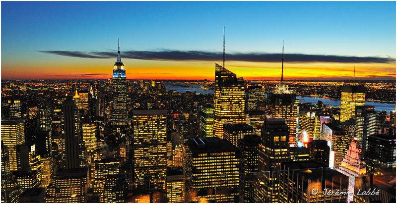 Manhattan's Skyline from Rockefeller Centre