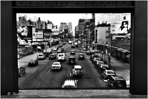 Traffic on 10th avenue, Manhattan, New York.