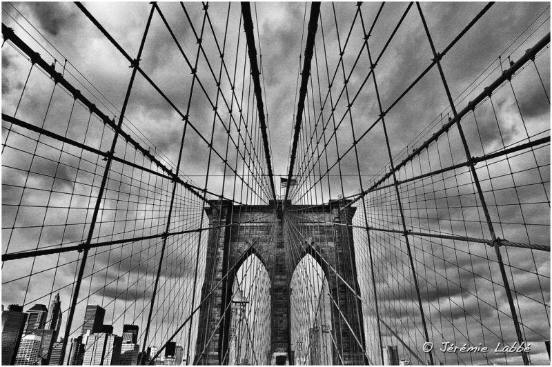 Brooklyn Bridge from Brooklyn side, New York