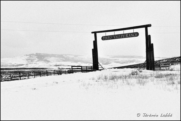 Ranch's gate in Colorado along road 7