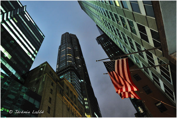 Skyscrapers raising on 56th Street, Manhattan