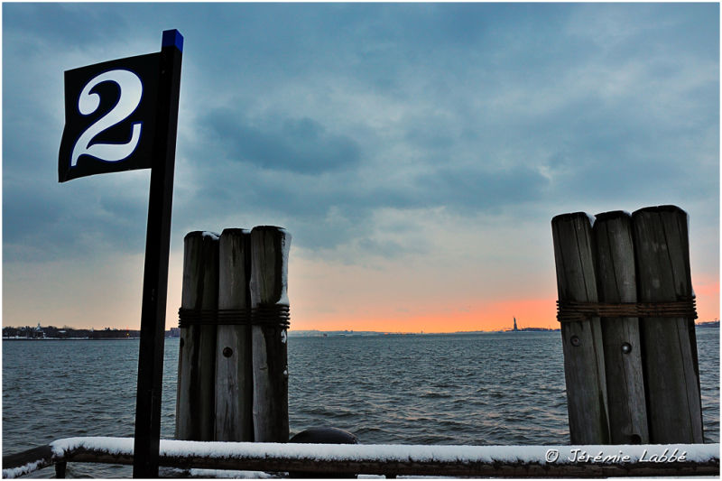 New York Bay seen from Battery Park, Manhattan
