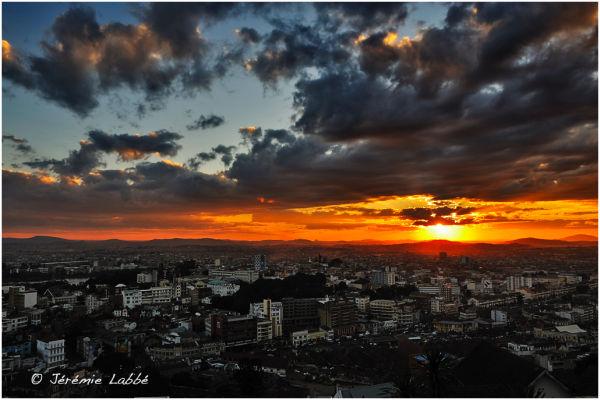 Sunset over Antananarivo, Madagascar