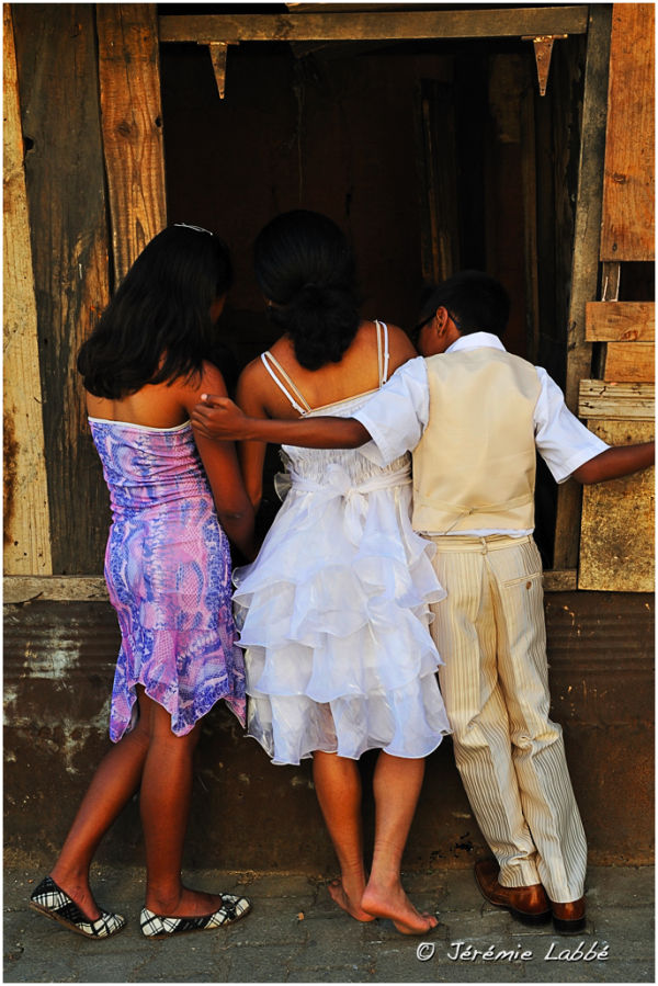 Children dressed for mass in Antananarivo