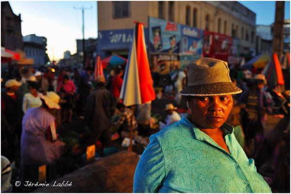 Woman in Analakely market, Antananarivo