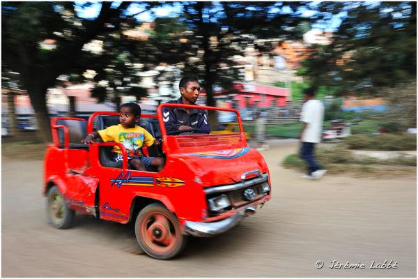 Car race for children, Antananarivo, Madagascar
