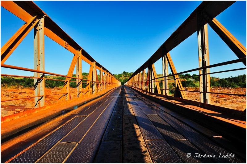 Metallic bridge over Betsiboka river, Madagascar