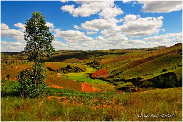 Highlands landscape in Madagascar