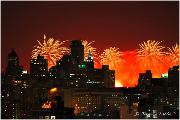 Fireworks over Brooklyn, New York