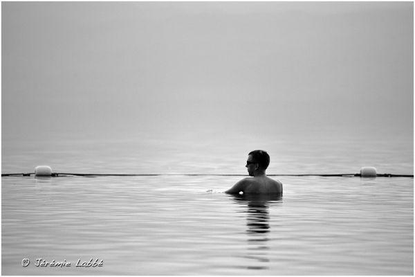 Tourist in Dead Sea, Jordan