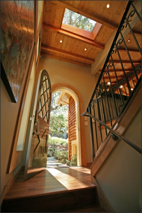entry way to a home, open door