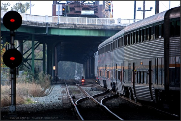 capitol corridor train leaving sacramento