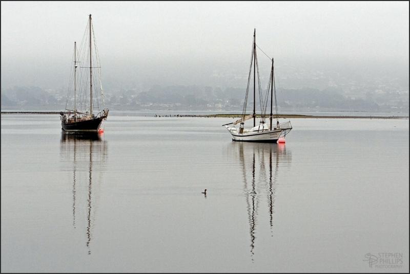 moored at Morro Bay
