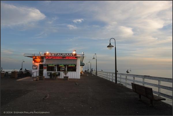 end of the santa cruz wharf