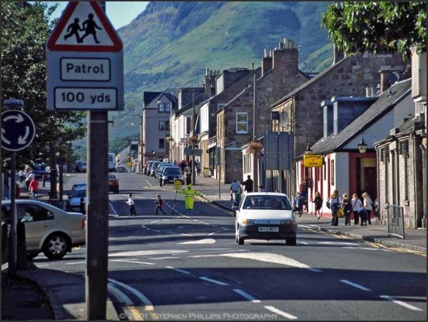 school's out in Callander, Scotland