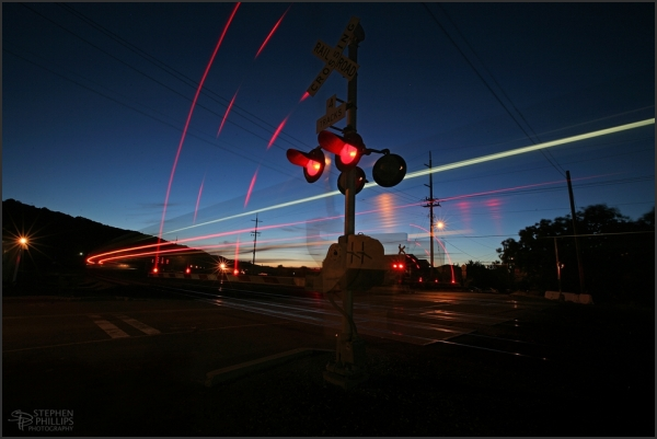 Southbound Amtrak california train in Martinez, CA