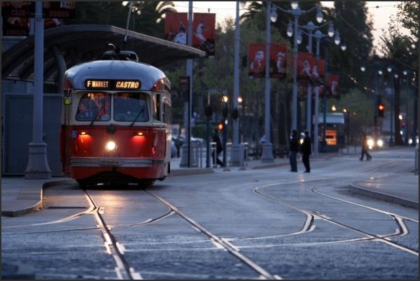 F Trolley Car Line in San Francisco
