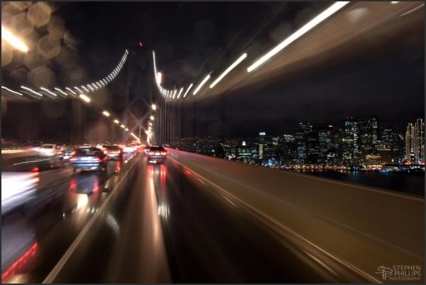 Crossing the San Francisco Oakland Bay Bridge
