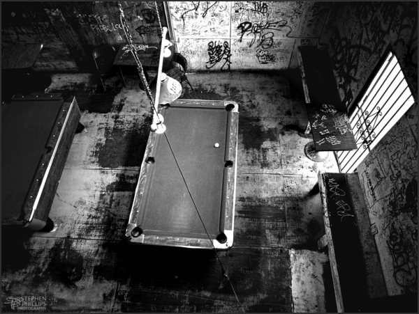 tough pool room in a tough bar