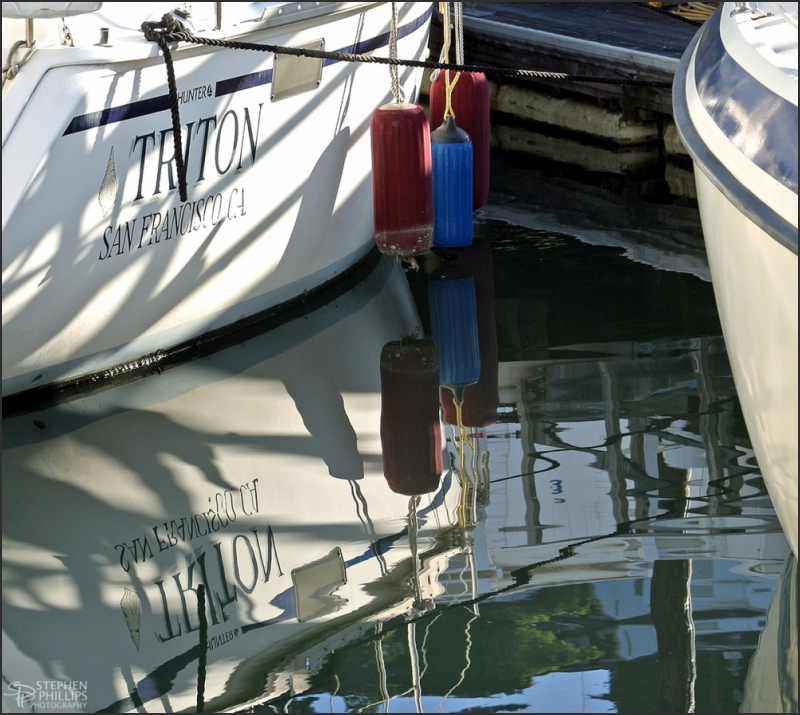Triton sailboat secured in San Francis, California