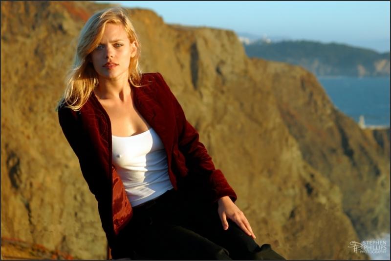 Molly Klaproth above Point Bonita