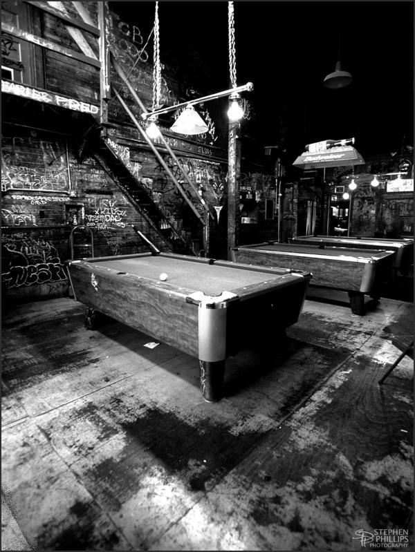 Pool Room of the Merchant Bar/ Oakland, California