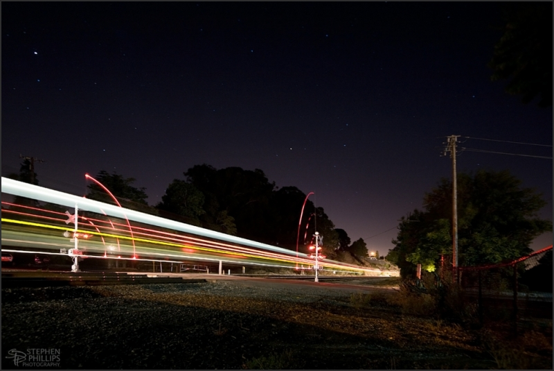 night train through Pinole, California