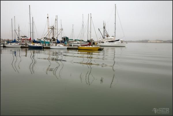 Morning Moorings - vessels in Humboldt Bay