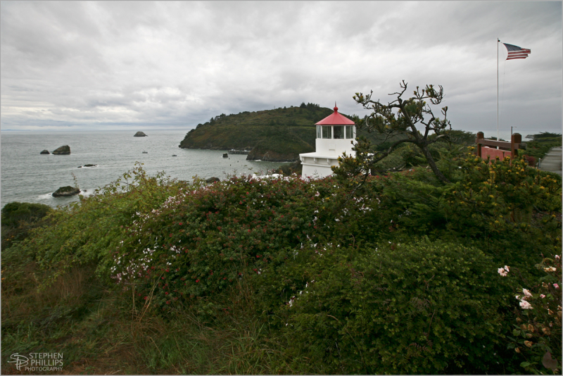 Trinidad Lighthouse on a stormy afternoon