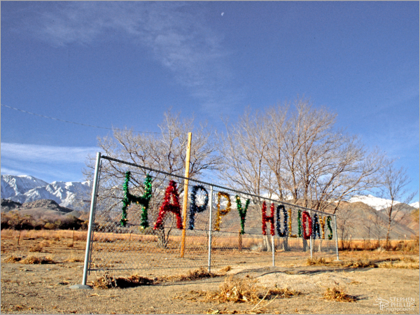 Happy Holidays from Lone Pine, California