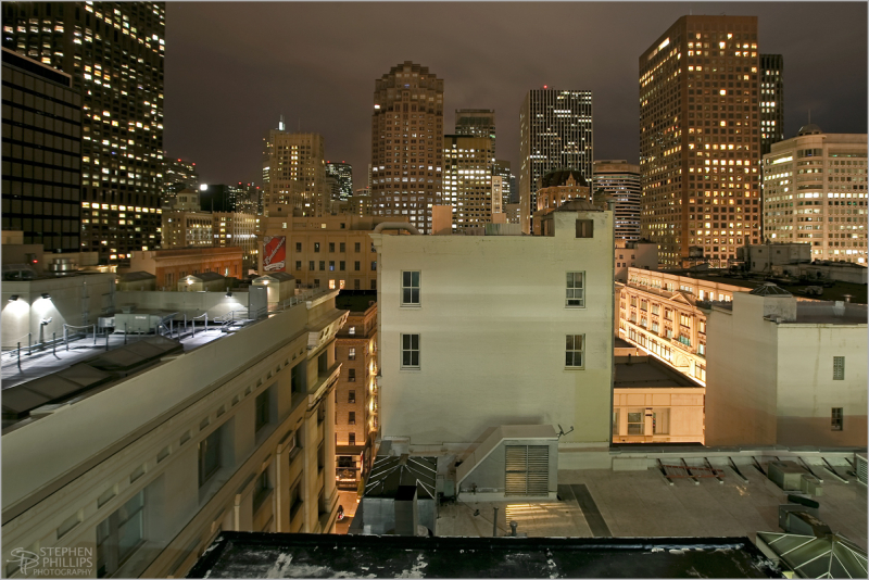 San Francisco Financial district at Night