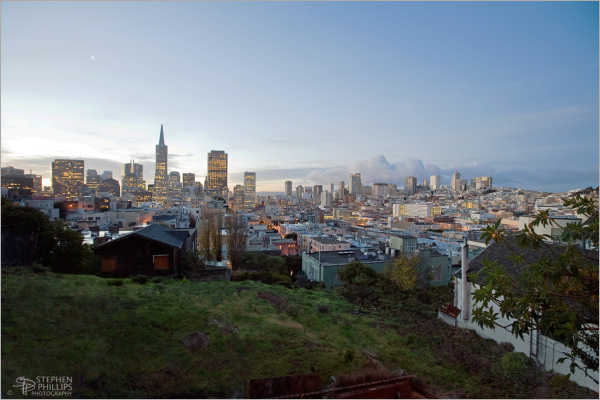 San Francisco Sunrise on Telegraph Hill